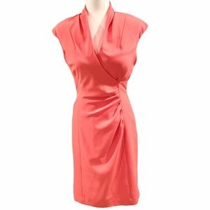 Alex Marie Coral Ruched Sleeveless Dress